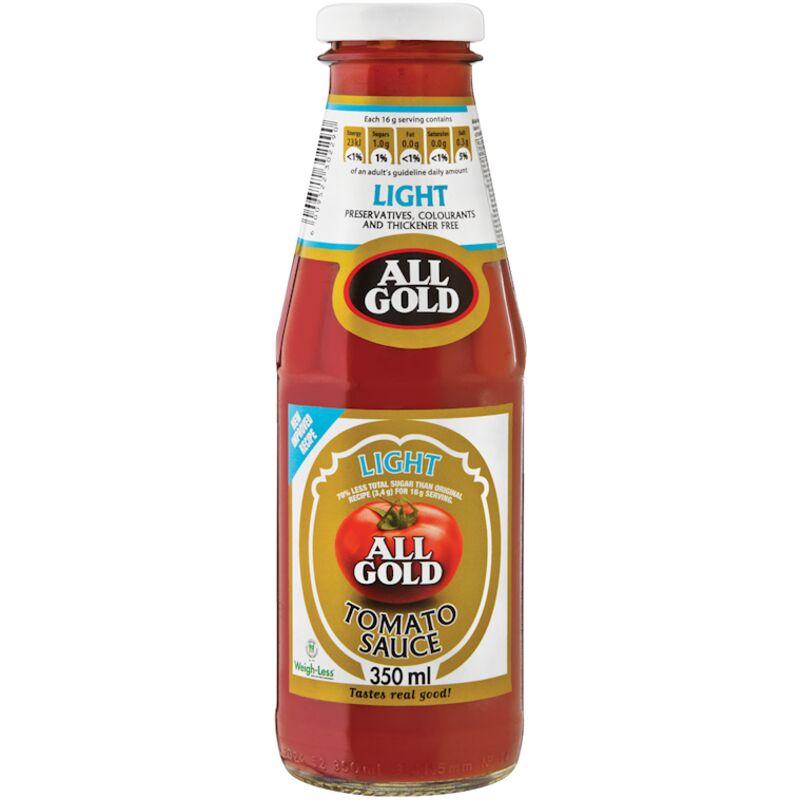 ALL GOLD TOMATO SAUCE LIGHT – 350ML