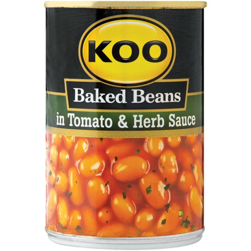 KOO BAKED BEANS IN TOMATO & HERB SAUCE – 410G
