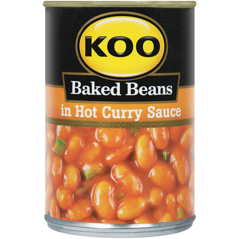 KOO BAKED BEANS IN CURRY SAUCE – 410G