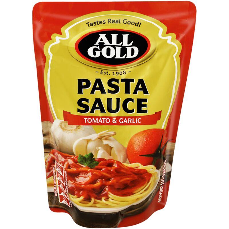 ALL GOLD PASTA SAUCE TOMATO & GARLIC – 405G