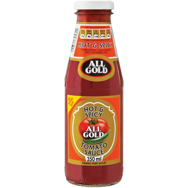 ALL GOLD TOMATO SAUCE HOT & SPICE – 350ML
