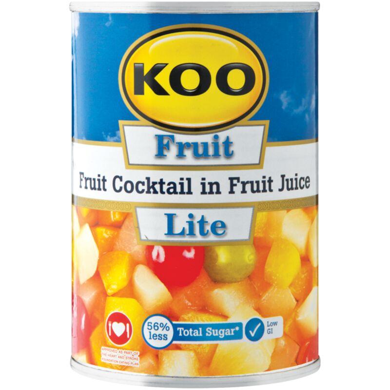 KOO LITE COCKTAIL IN FRUIT JCE – 410G