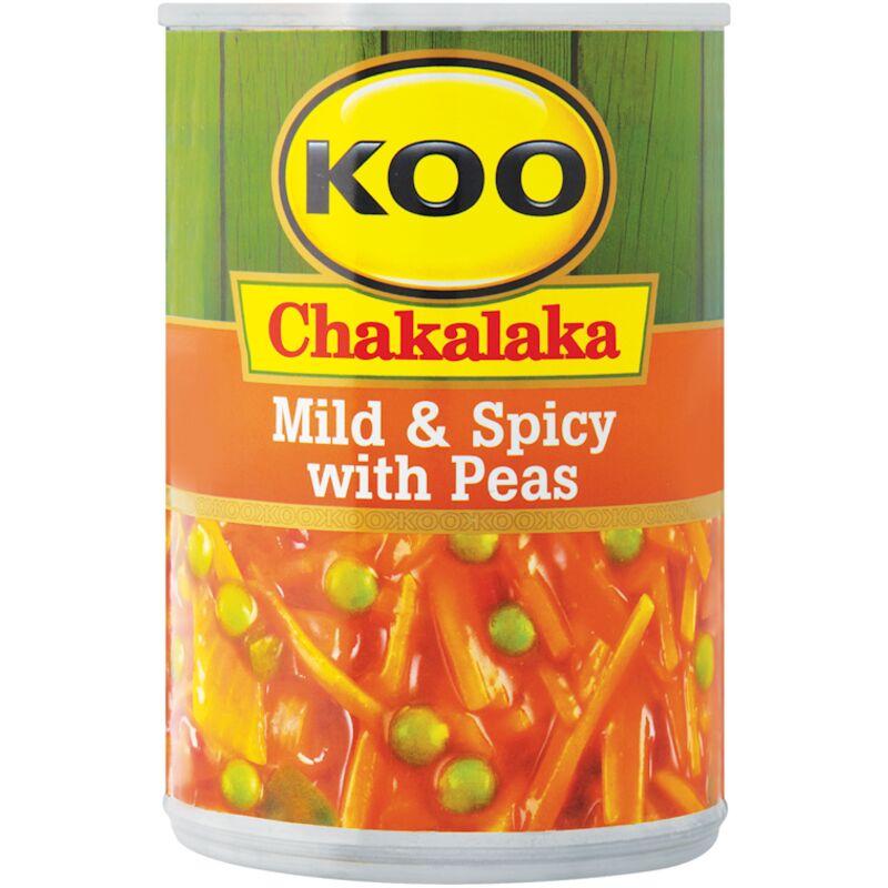 KOO CHAKALAKA MILD & SPICY WITH PEAS – 410G