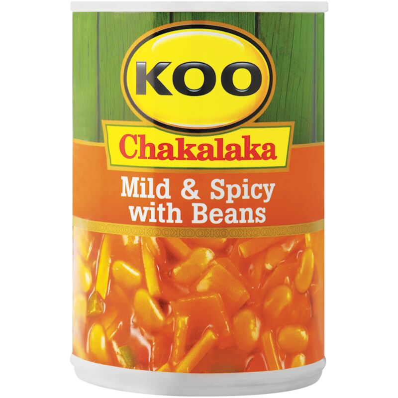 KOO CHAKALAKA MILD & SPICY WITH BEANS – 410G