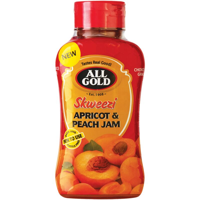 ALL GOLD SKWEEZI JAM APRICOT PEACH – 460G