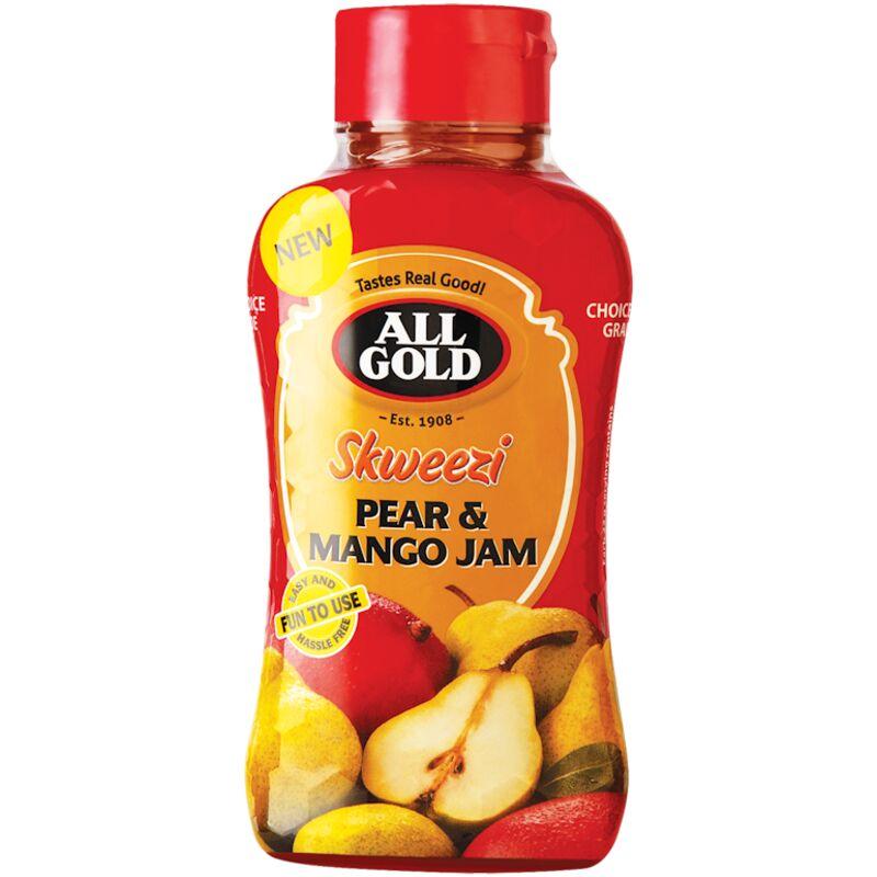 ALL GOLD SKWEEZI JAM PEAR MANGO – 460G