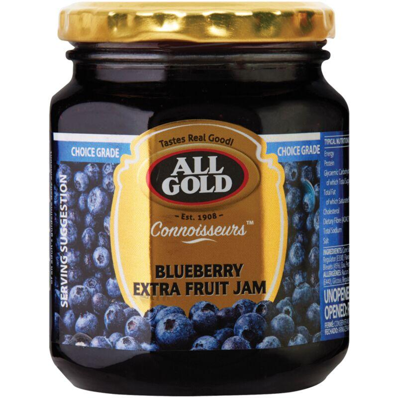 ALL GOLD CONNOISSEURS JAM BLUEBERRY – 320G