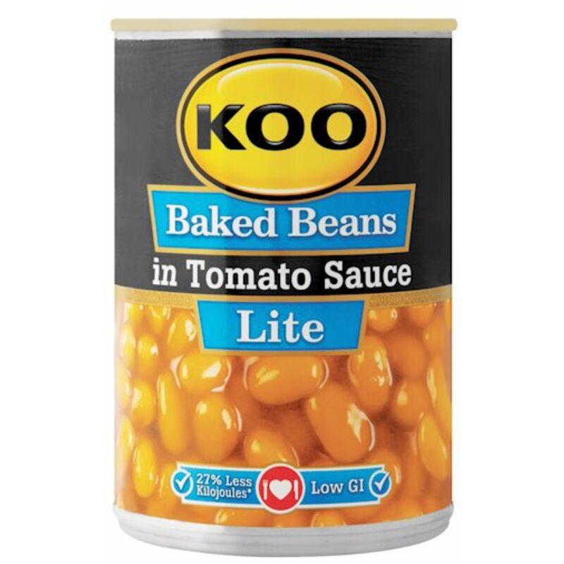 KOO BAKED BEANS IN TOMATO SAUCE LITE – 410G