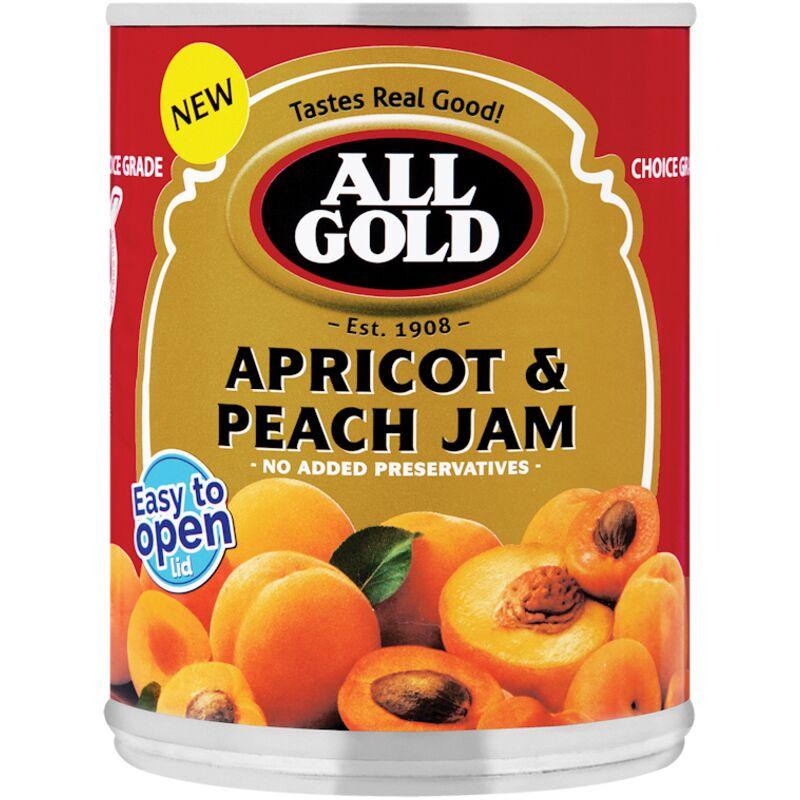 ALL GOLD JAM APRICOT PEACH – 450G
