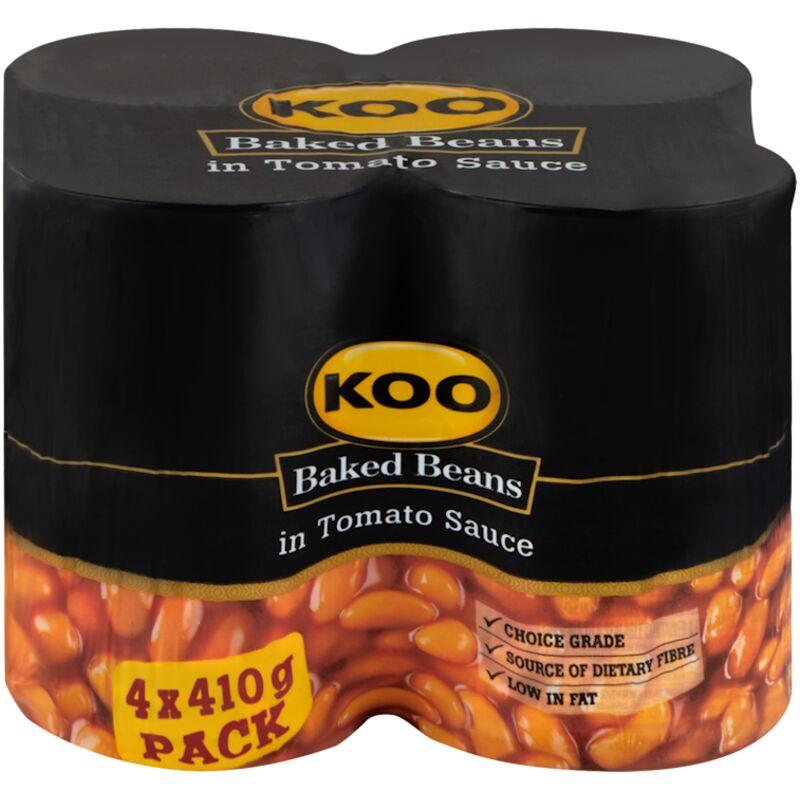 KOO BAKED BEANS IN TOM SAUCE 4S – 410G