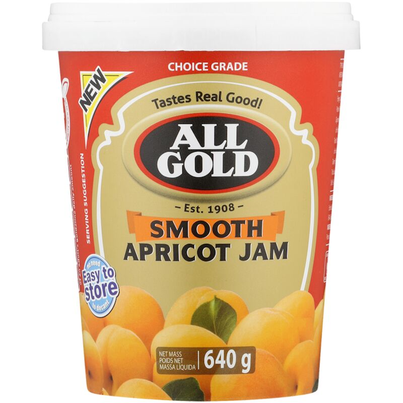 ALL GOLD JAM SMOOTH APRICOT – 640G
