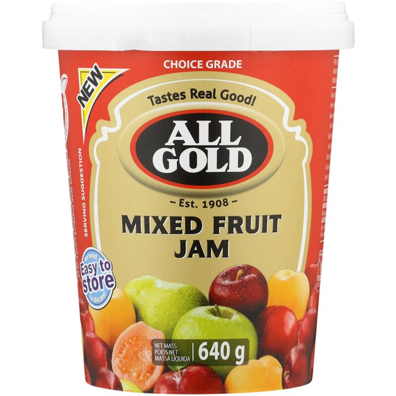 ALL GOLD JAM SMOOTH MIXED FRUIT – 640G