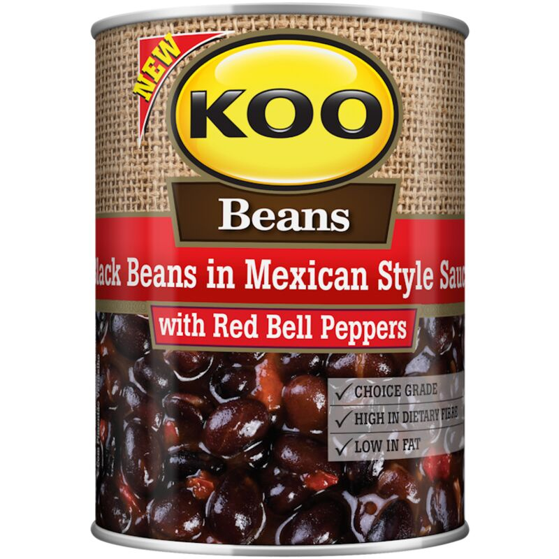 KOO BLACK BEANS IN MEXICAN STYLE SAUCE – 410G