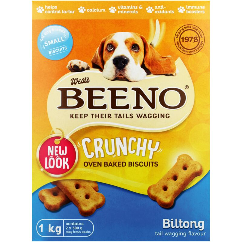 BEENO SMALL BISCUITS BILTONG FLAVOUR – 1KG