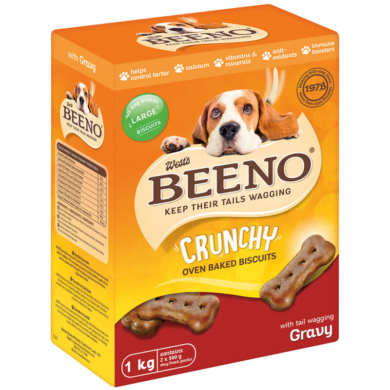 BEENO LARGE BISCUITS WITH GRAVY – 1KG