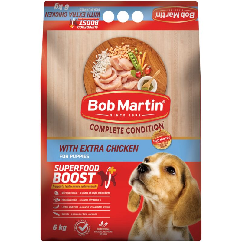 BOB MARTIN COMPLETE CONCENTRATE PUPPY EXTRA CHICKEN – 6KG