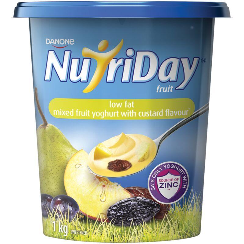 NUTRIDAY YOGHURT LOW FAT STEWED FRUIT CUSTARD – 1L