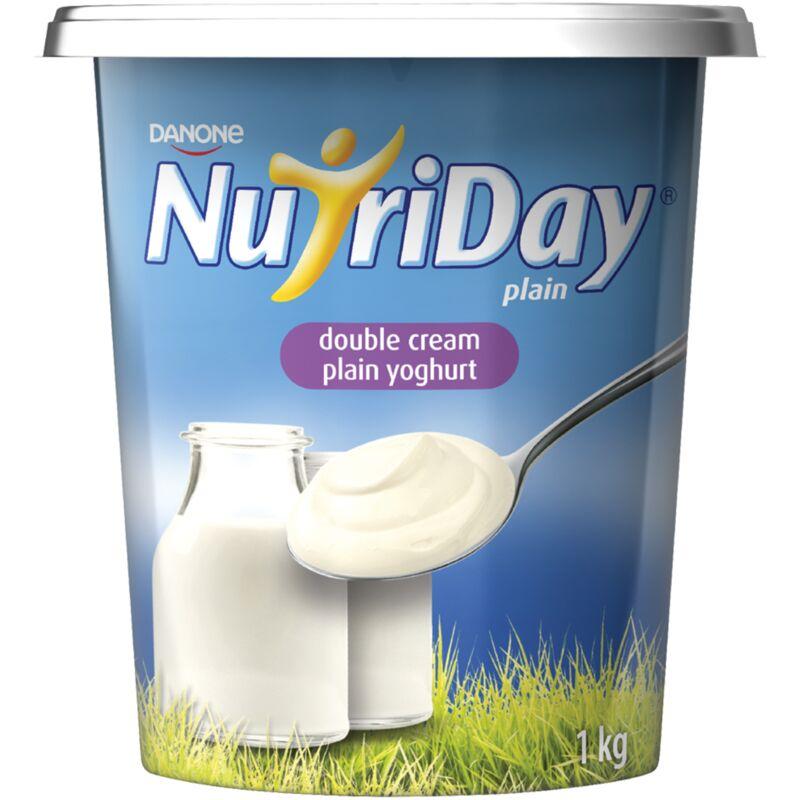 NUTRIDAY YOGHURT DOUBLE CREAM PLAIN – 1L