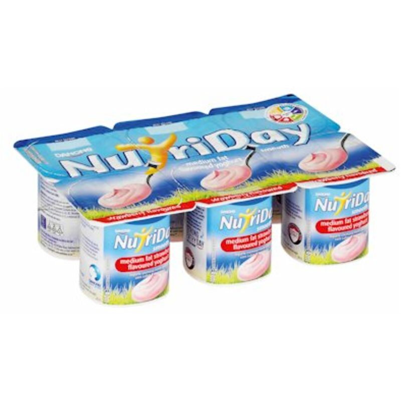 NUTRIDAY YOGHURT SMOOTH STRAWBERRY MULTIPACK – 6S