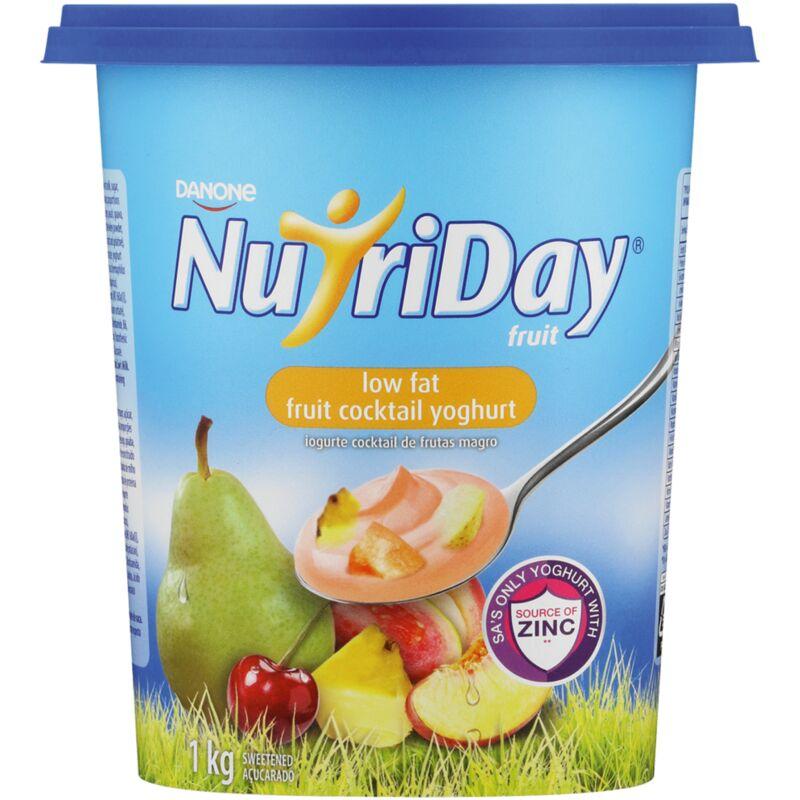 NUTRIDAY YOGHURT LOW FAT FRUIT COCKTAIL FRUIT CUP – 1L