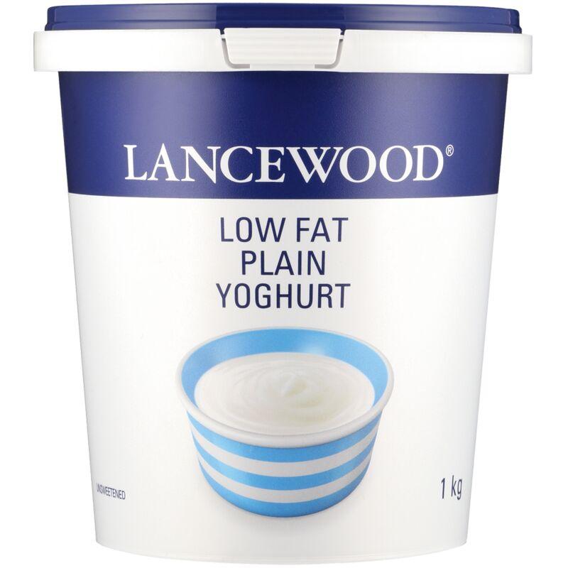 LANCEWOOD LOW FAT PLAIN YOGHURT – 1L