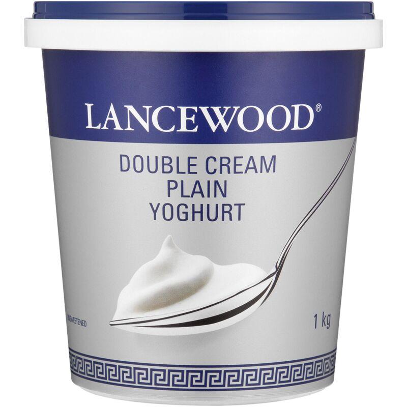 LANCEWOOD DOUBLE CREAM PLAIN YOGHURT – 1L