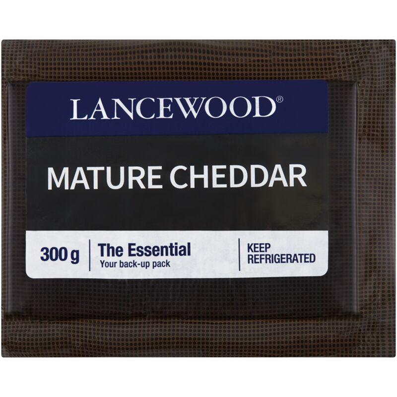 LANCEWOOD CHEESE MATURE CHEDDAR VACUUM PACK – 300G