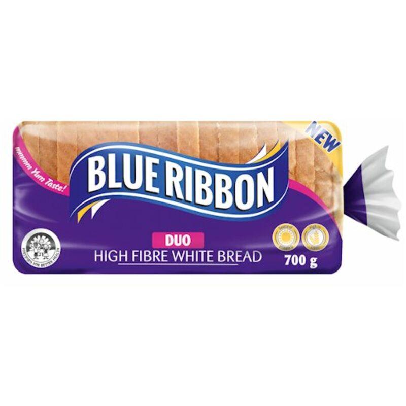 BLUE RIBBON BREAD WHITE PREMIER FUEL HIGH FIBRE LOW GI – 700G