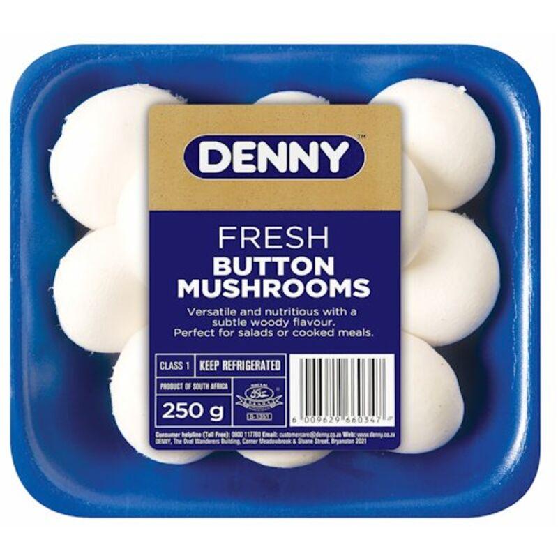 DENNY MUSHROOMS WHITE BUTTON – 250G