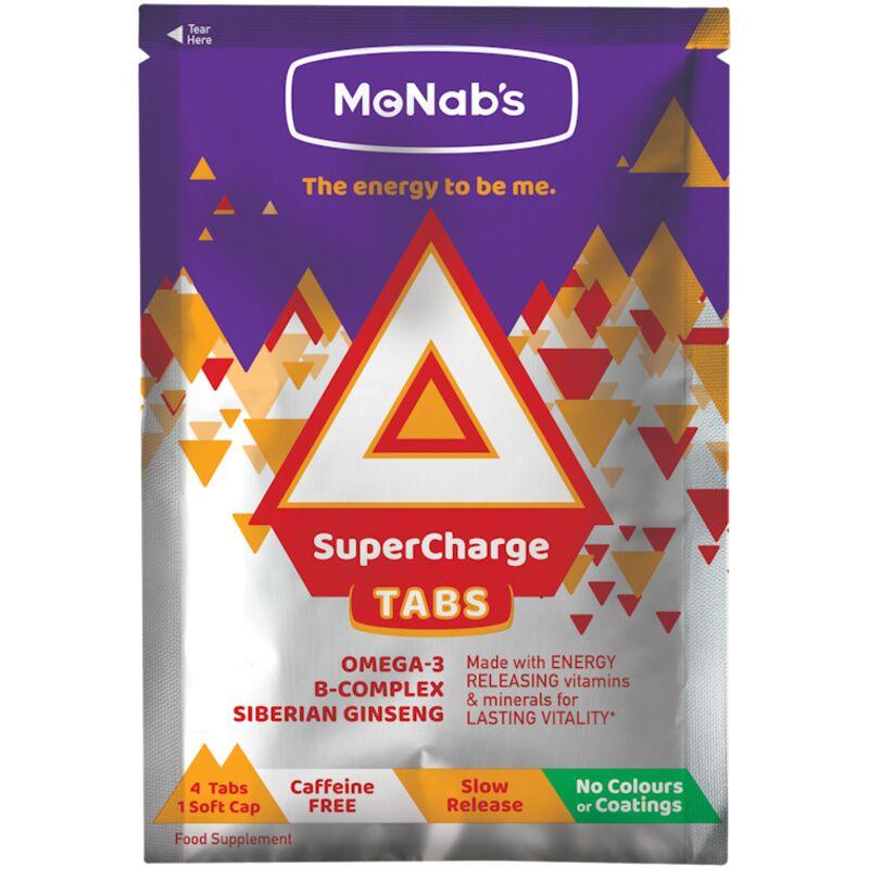 MCNABS SUPERCHARGE ENERGY TABS SACHET – 36S
