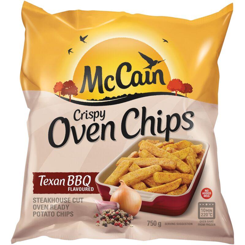 MCCAIN CRISPY OVEN CHIPS TEXAN BBQ – 750G