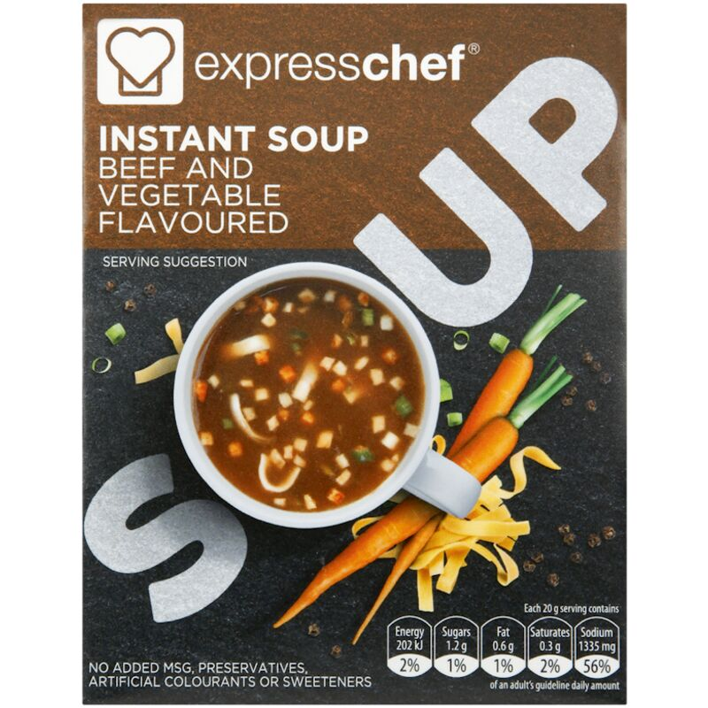 EXPRESS CHEF INSTANT SOUP BEEF VEG – 80G