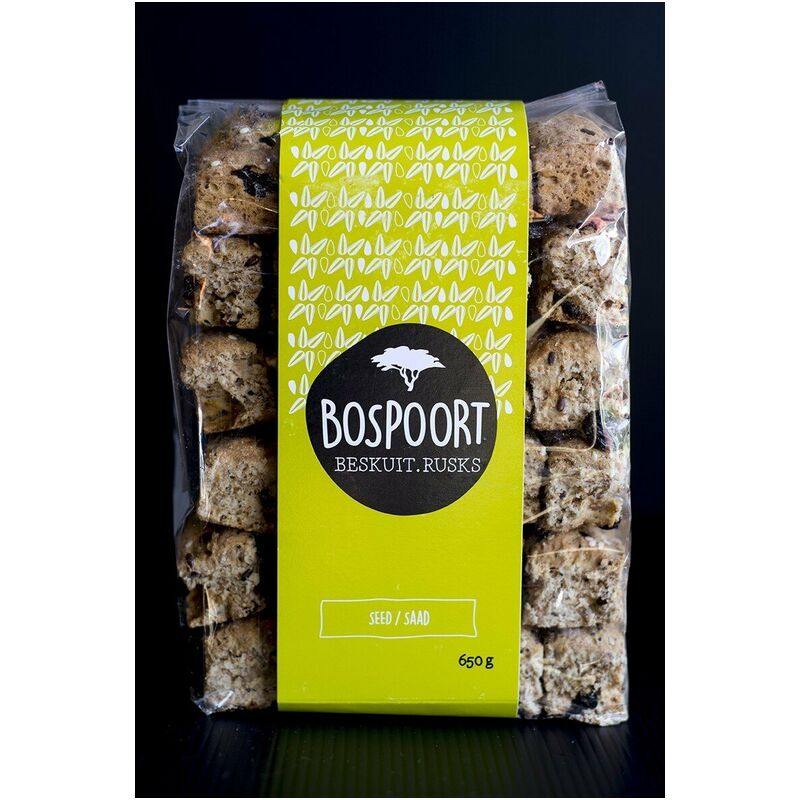 BOSPOORT RUSKS SEED – 650G
