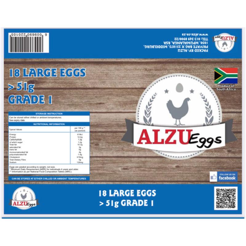 ALZU EGGS REGULAR LARGE GRAIN FED – 18S