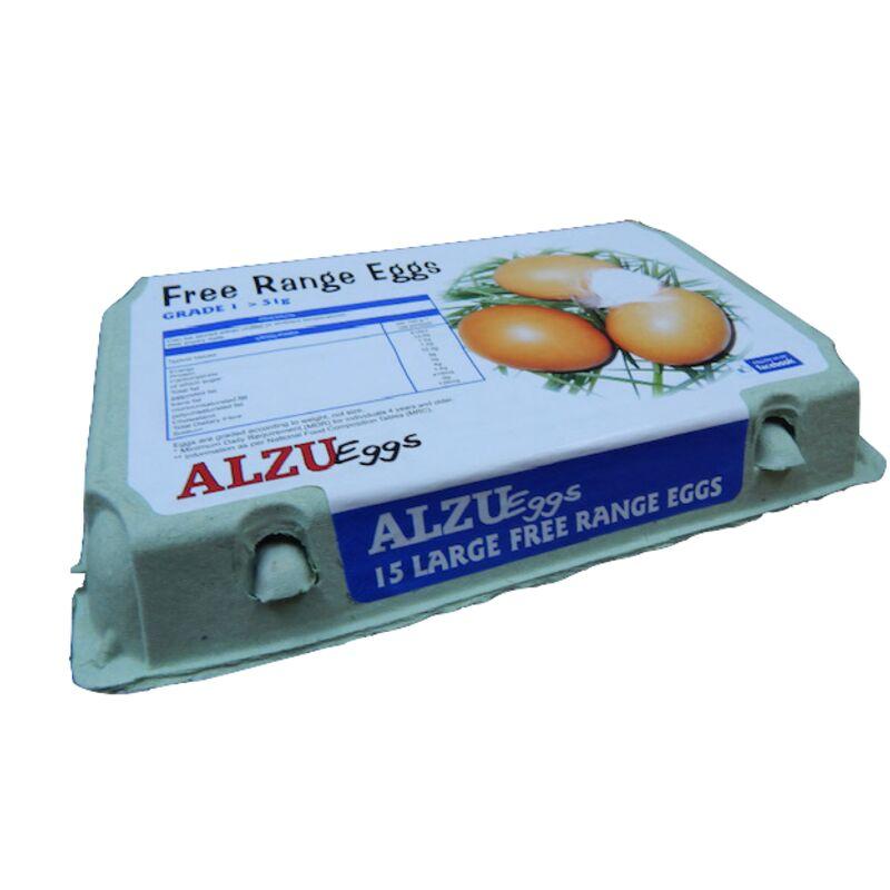 ALZU EGGS FREE RANGE LARGE – 15S