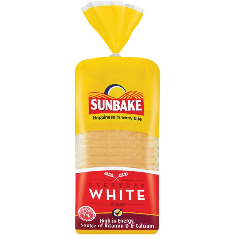 SUNBAKE BREAD WHITE SLICED – 700G