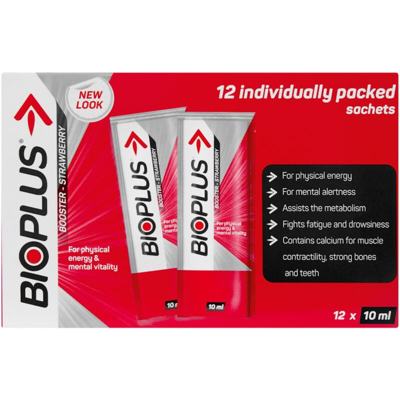 BIOPLUS ENERGY TONIC BOOSTER STRAWBERRY – 12S