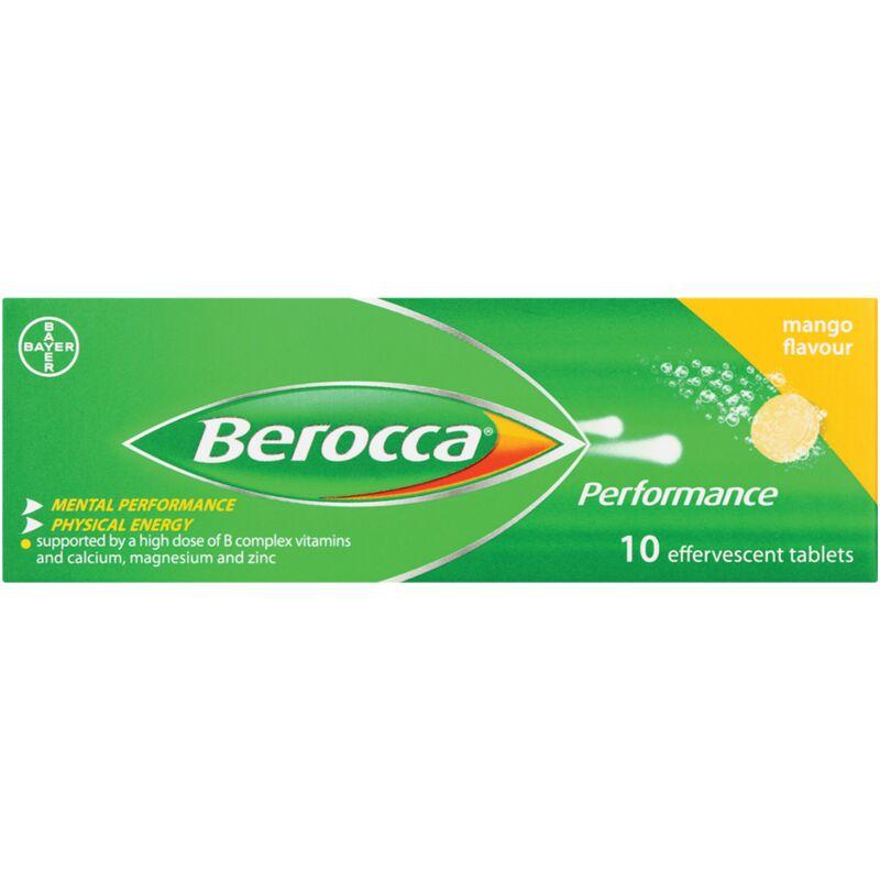 BEROCCA EFFERVESCENT TAB MANGO – 10S