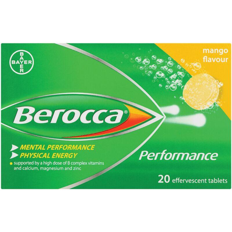 BEROCCA EFFERVESCENT TAB MANGO – 20S