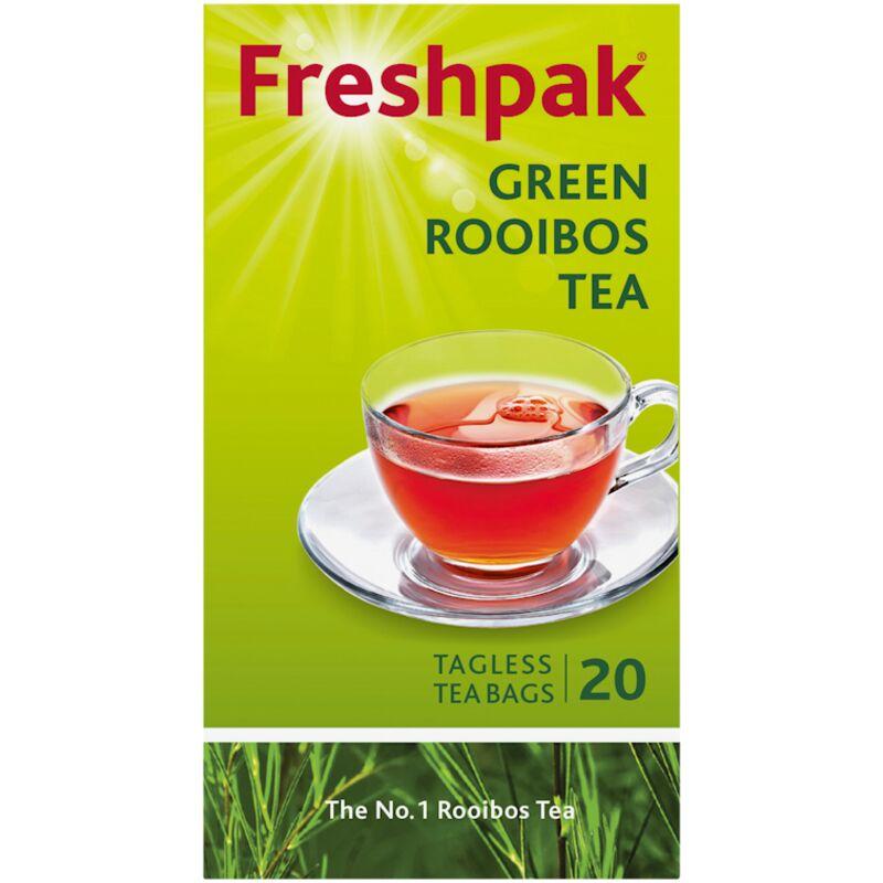 FRESHPAK TEA BAGS GREEN ROOIBOS TAG LESS – 20S