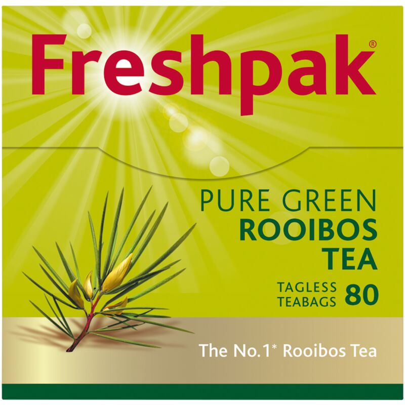 FRESHPAK TEA BAGS GREEN ROOIBOS TAG LESS – 80S