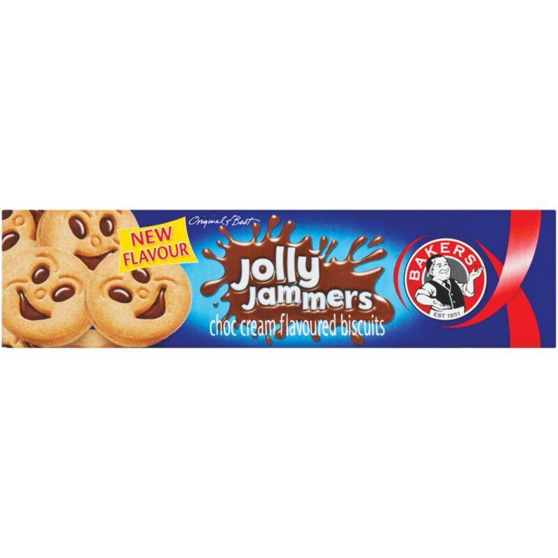 BAKERS JOLLY JAMMERS CHOCOLATE CREAM – 200G