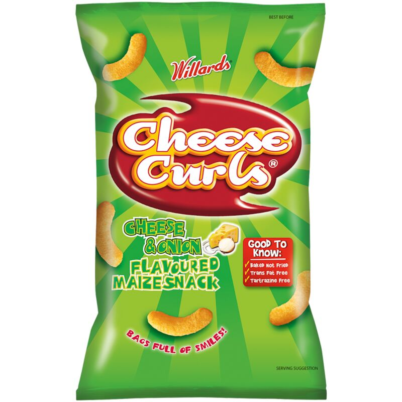 CHEESE CURLS CHEESE AND ONION – 150G