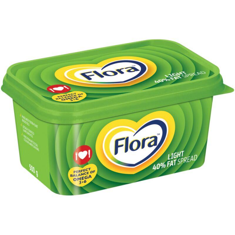 FLORA MARGARINE LIGHT 40% FAT SPREAD – 500G