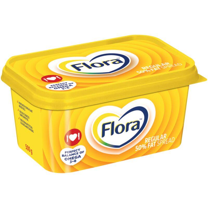 FLORA MARGARINE REGULAR 50% FAT SPREAD – 500G