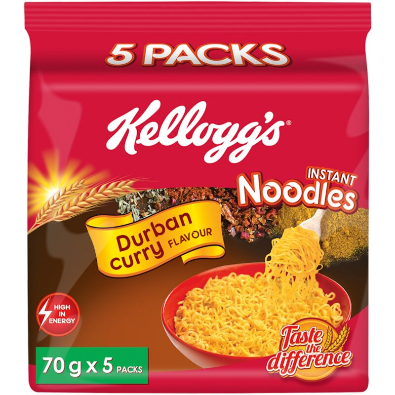 KELLOGGS NOODLES DURBAN CURRY MULTIPACK – 5S