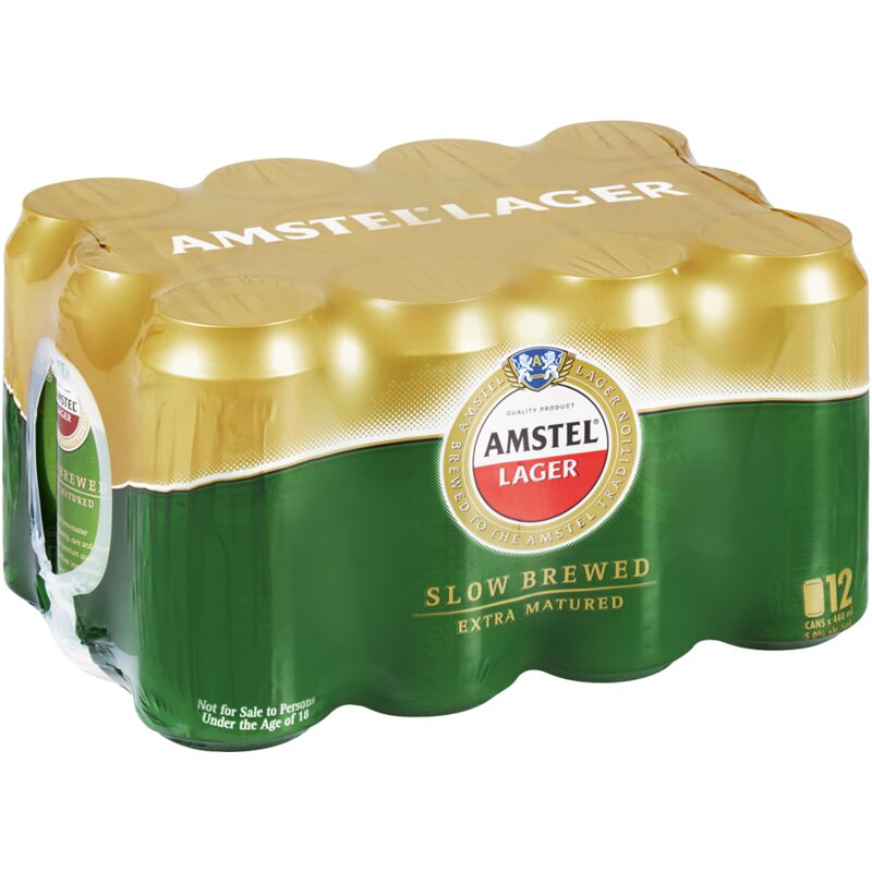 AMSTEL CANS 12 PACK – 440ML