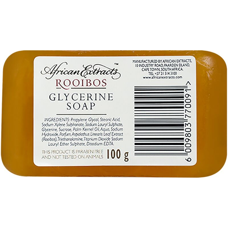 AFRICAN EXTRACTS ROOIBOS GLYCERINE SOAP – 100G
