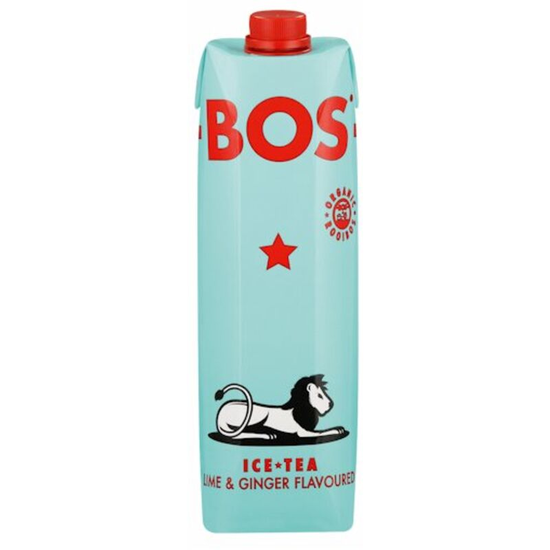 BOS ICE TEA LIME AND GINGER – 1L