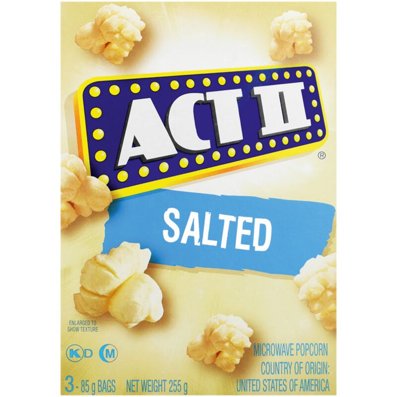 ACT II MICROWAVE POPCORN SALTED – 3S